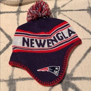 Fleece lined NE Patriots winter had SZ 2-4 T